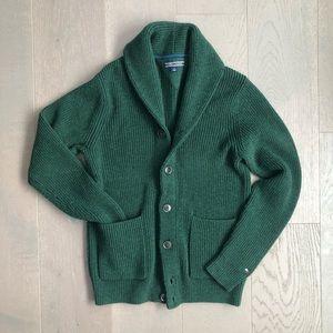 Tommy Hilfiger Shawl Collar Cardigan Sweater Green